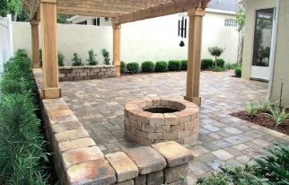 An example of a recent project to create a backyard paved patio.