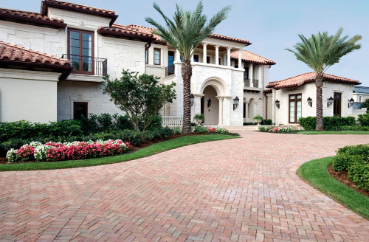 Paver Driveway in front of a Florida home, project completed last summer.